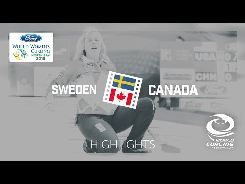 HIGHLIGHTS: Sweden v Canada – Round-robin – Ford World Women's Curling Championship 2018