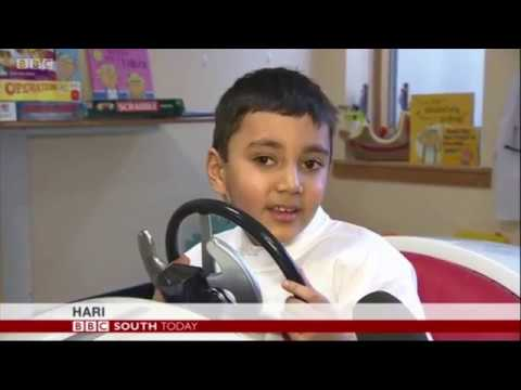 BBC South Today - Rolls-Royce builds bespoke car for kids at St Richard's hospital