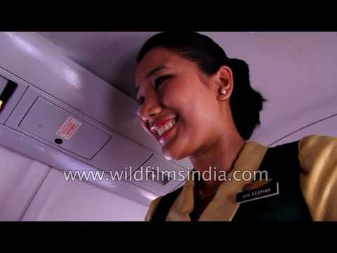 Nepalese air hostess on Yeti Airlines flight - passenger asks if she is married