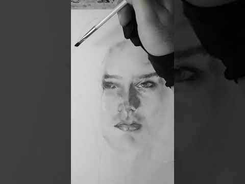 How to draw Jennifer Connelly with pastels – Drawing portrait – Professional drawing portrait