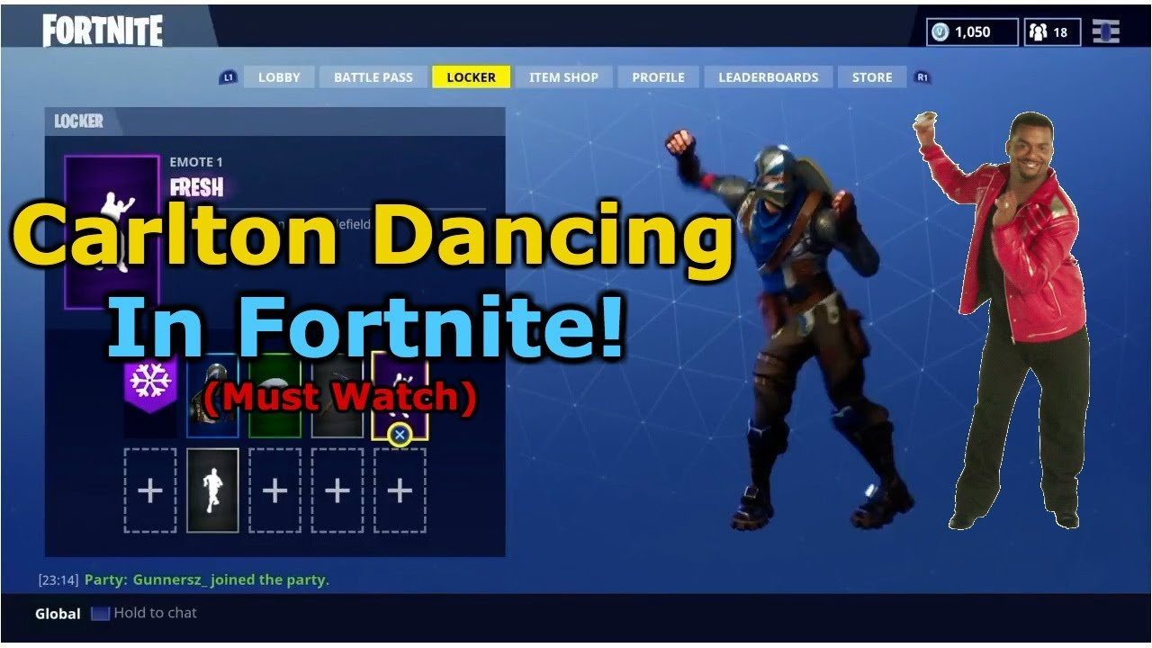 0ec1674176 Everyone loves the carlton dance (Fortnite Battle Royale) - YouTube