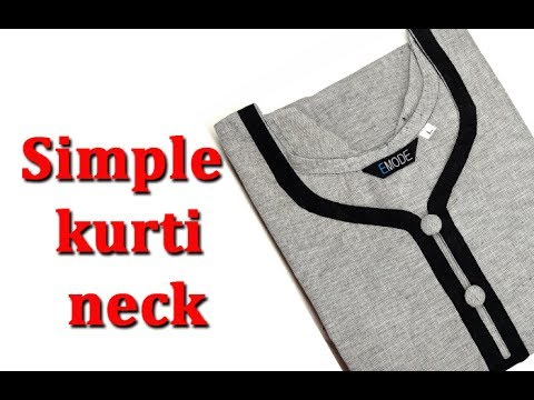 churidar neck design cutting and stitching malayalam DIY tutorial, kurti neck design  stitching