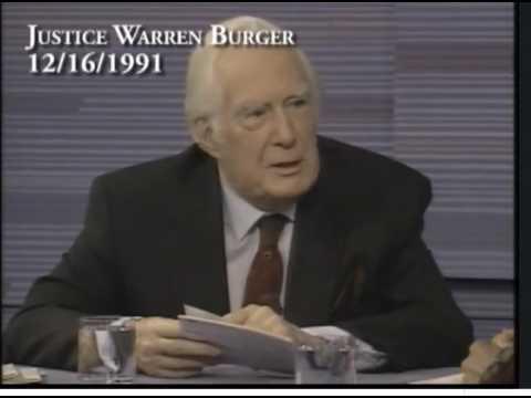 """Warren Burger """"2nd Amendment Fraud"""" - 1991 PBS News Hour"""