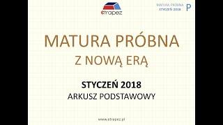 Matura próbna NOWA ERA styczeń 2018 - arkusz podstawowy