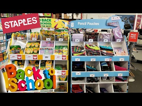 STAPLES * BACK TO SCHOOL SHOPPING - STORE WALKTHROUGH JULY 2019