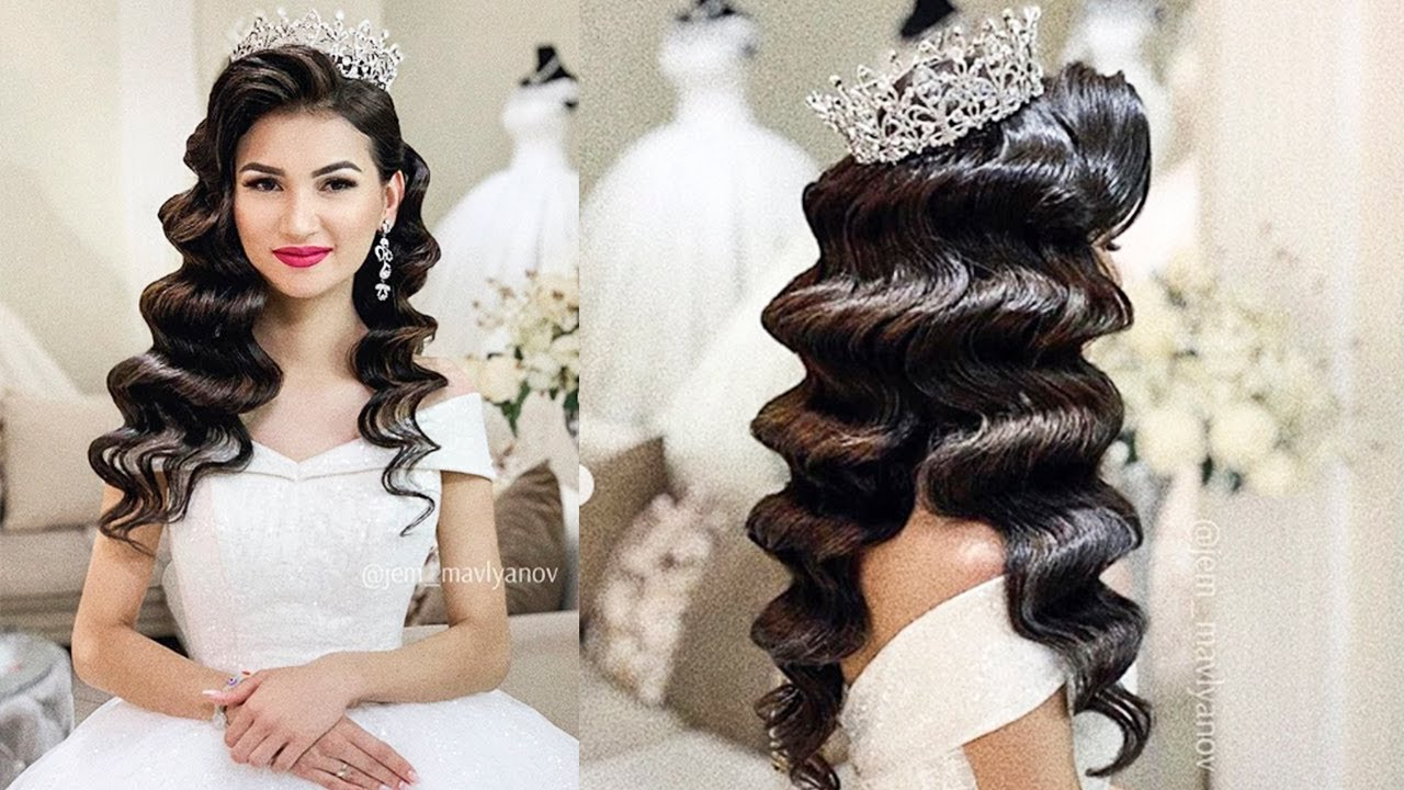 beautiful vintage hollywood waves | latest and new beautiful bridal hairstyle. wedding updo