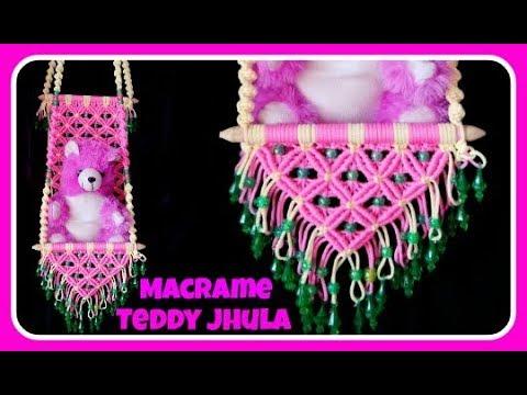 Unique Macrame Teddy Jhula
