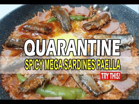 QUARANTINE FILIPINO RECIPE (SPICY MEGA SARDINES PAELLA)     EASY RECIPE YOU CAN MAKE AT HOME