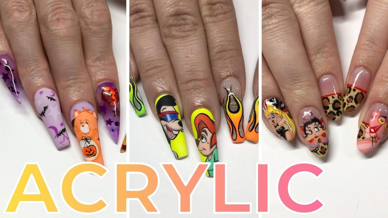 ✨248✨Amazingly Beautiful 💅 Acrylic Nail Art Designs Tutorial Ideas