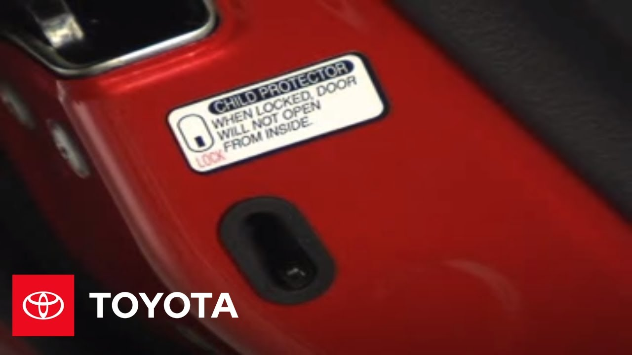Toyota Corolla Owners Manual: Safety information for children