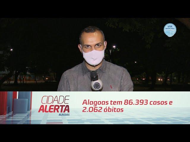 Coronavírus: Alagoas tem 86.393 casos e 2.062 óbitos