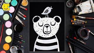 Ho to draw bear/Как нарисовать мишку/Простые рисунки