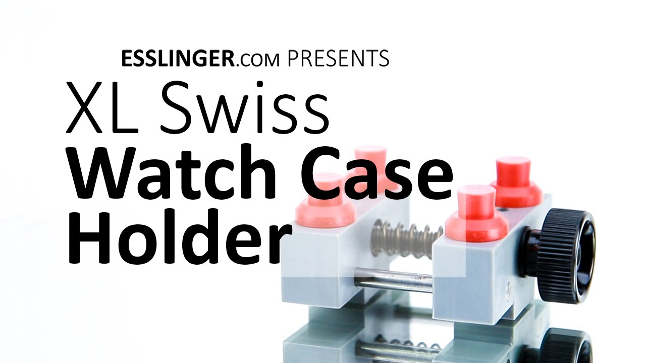 Extra Large Swiss Watch Case Holder Repair Vise With Adjule Pins