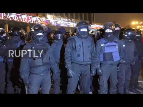 Ukraine: Nationalists clash with police during anti-Russia protest