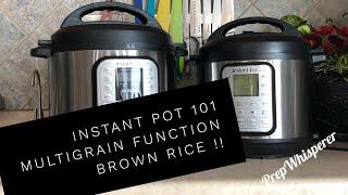 Instant Pot 101 - Multigrain Function - Brown Rice