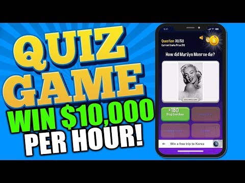 WIN $10 To $10,000 Per Hour With This QUIZ GAME!