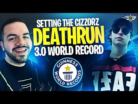SETTING THE CIZZORZ DEATHRUN 3.0 WORLD RECORD?! (Fortnite: Battle Royale)