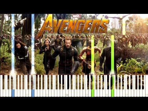 Avengers: Infinity War - Official Trailer #1 Music [Synthesia Piano Tutorial] thumbnail