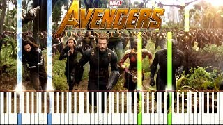 Avengers: Infinity War - Official Trailer #1 Music [Synthesia Piano Tutorial]