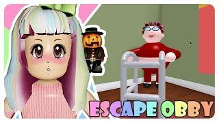 """""""Escape again from GRANDMA:D""""   Roblox Escape Obby Indonesia"""