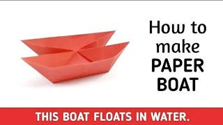 How to make an origami paper boat - 5 | Origami / Paper Folding Craft, Videos & Tutorials.