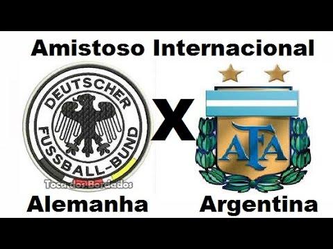 Alemanha 2 x 4 Argentina - Amistoso Internacional 03/09/2014 - Jogo Completo TV Globo