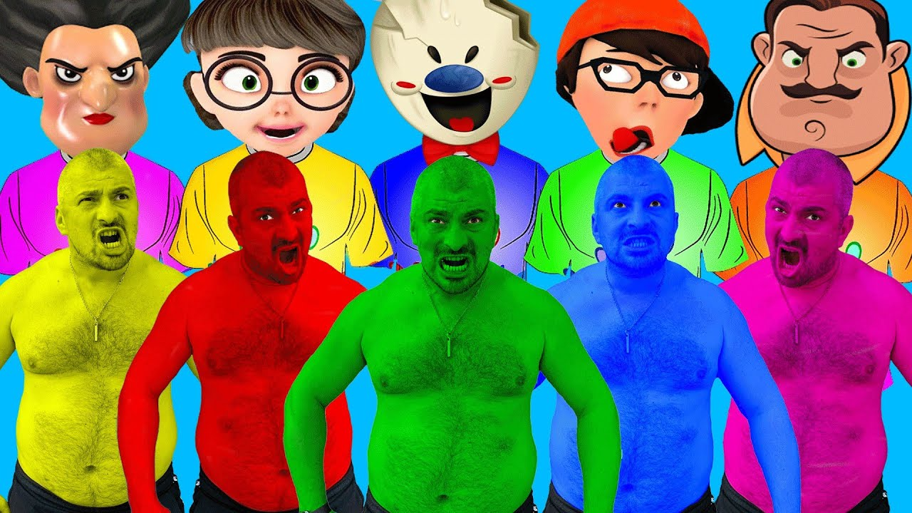 Team Hulk vs. Nick & Tani vs. Scary Teacher vs. Hello Neighbor (Heads)