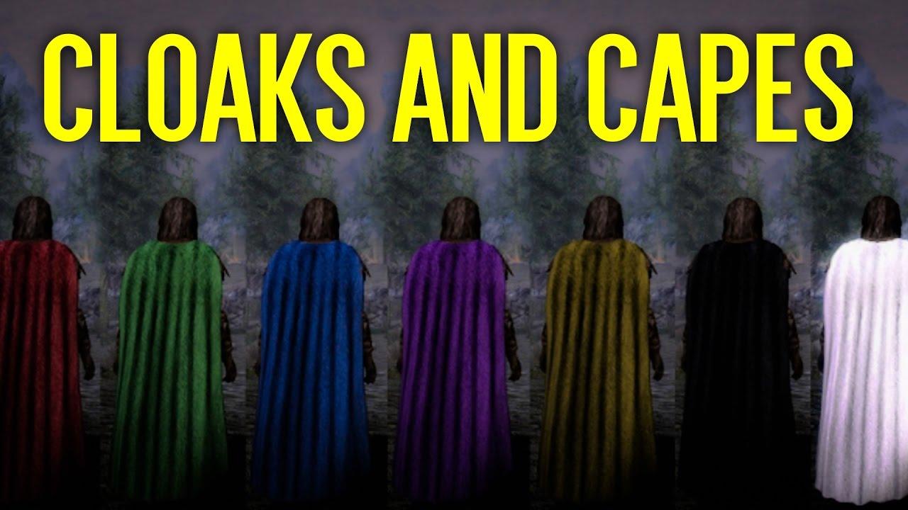 100 cloaks of skyrim mod   skyrim se ultra high enb photoreal.