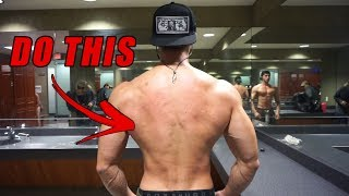 BIGGER WIDER LATS with this BACK WORKOUT