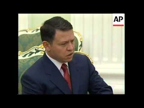 Jordan's King Abdullah meets Putin to discuss Mideast