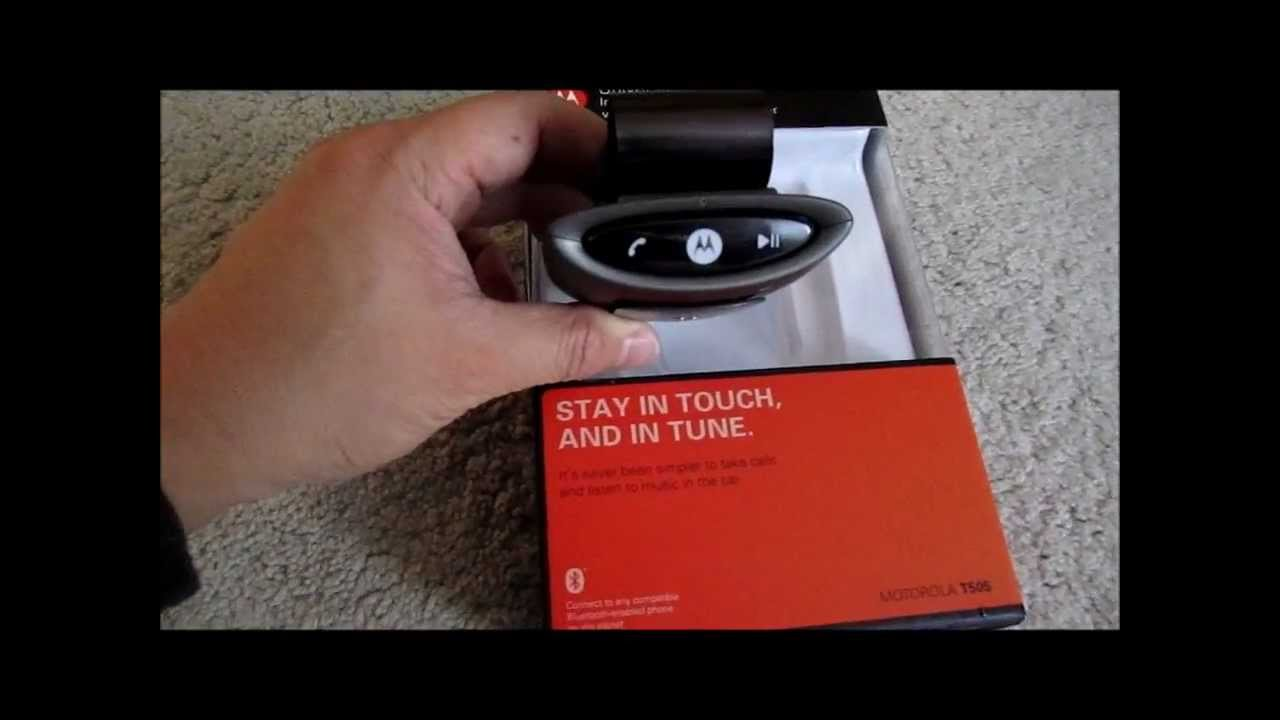 motorola t505 bluetooth speakerphone fm transmitter review youtube rh youtube com