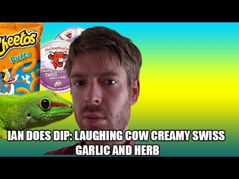 Ian Does Dip: Laughing Cow Creamy Swiss Garlic and Herb with Cheetos Puffs
