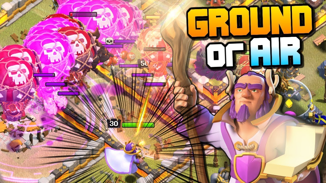 GROUND or AIR Grand Warden | LavaLoon Attack Strategy | Clash of Clans