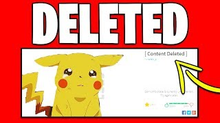 ROBLOX DELETED PROJECT POKEMON! ALL POKEMON GAMES DELETED!