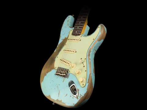 Jimi Hendrix SRV style hard rock blues backing track in Em
