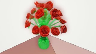 Flower Vase Out Of Waste Plastic Bottle | How To Make Flower Vase From Plastic Bottles | DIY Ideas
