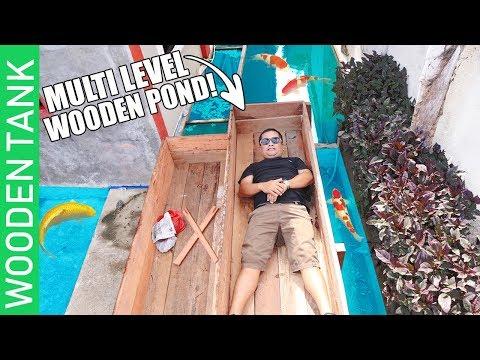 MY DIY MULTILEVEL WOODEN POND👍🏻👍🏻 & JAPANESE KOI, MOLLY, BETTA FISH (update)