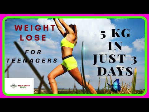How to lose weight fast for teenagers without exercise | lose weight transformation | Healthy Bari