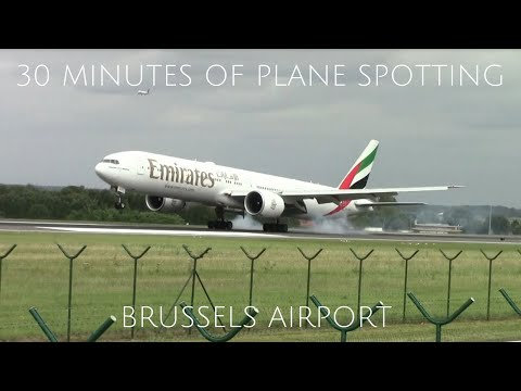30 Minutes of Plane Spotting at Brussels Airport!