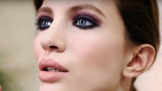 Сливовый смоки айс - вечерний макияж. Красивый макияж глаз смоки айс (smoky eyes)