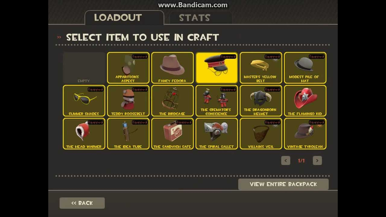 TF2 Crafting The Best Sniper Hat