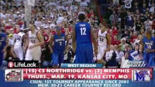 #2 Memphis Tigers vs. #15 Cal St Northridge Matadors - 2009 March Madness