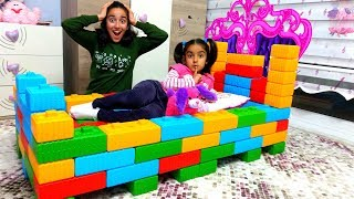 Esma made a Toy cute Bed fun kid video