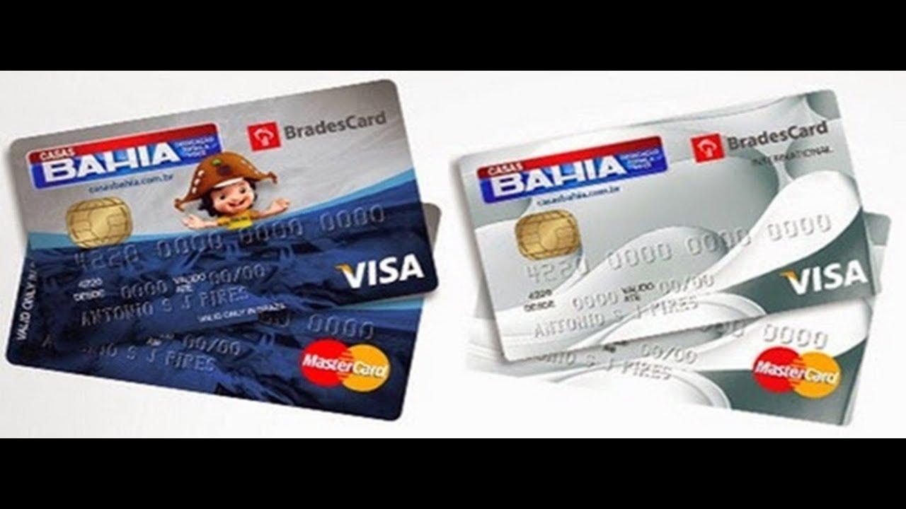 Conheca O Cartao De Credito Casas Bahia Visa E Mastercard Youtube