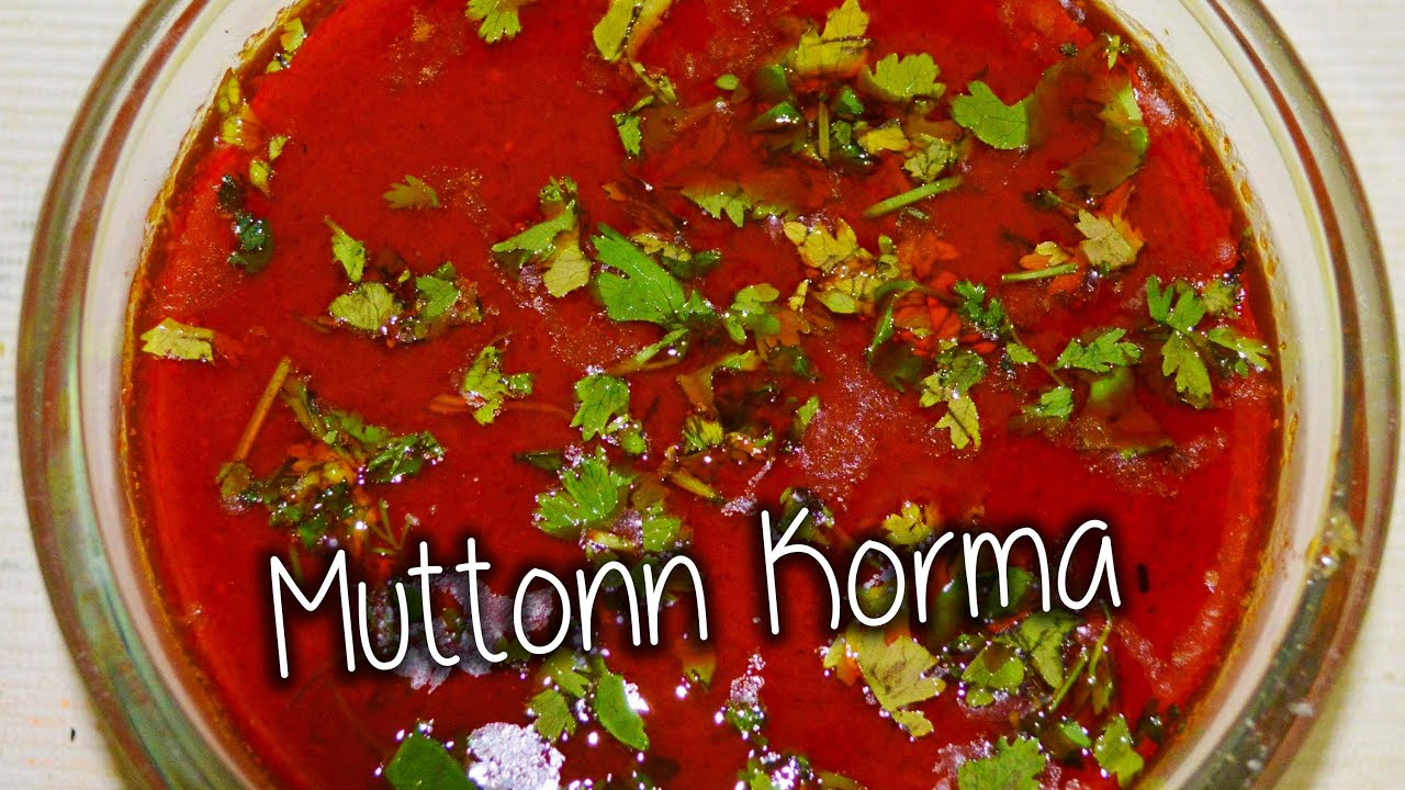 mutton korma recipe by chef shaheen youtube