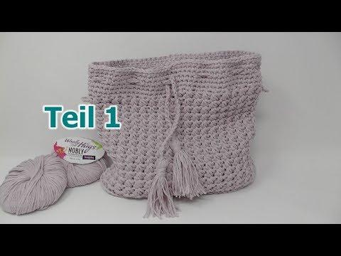 Einfache Tasche Häkeln Happy Day Mit Woolly Hugs Nobly Teil 1