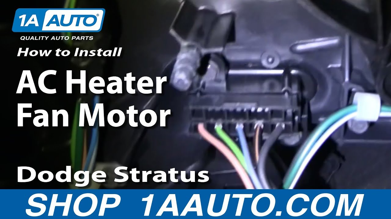 hight resolution of how to replace heater blower motor with fan cage 01 06 dodge stratus