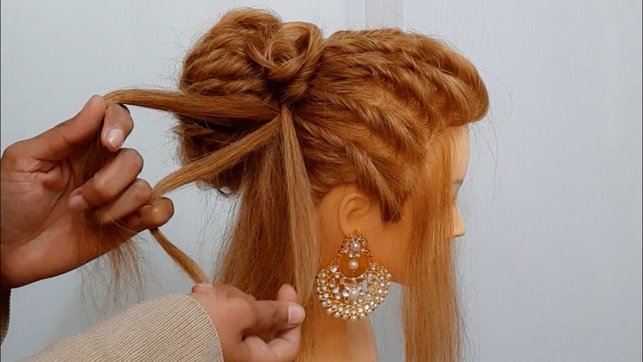 Beautiful Hairstyle for Valentines Day : Bun Hairstyles : Wedding Hairstyles