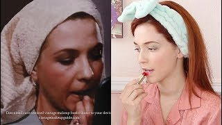 I Tried Following a REAL 1950's Makeup Tutorial