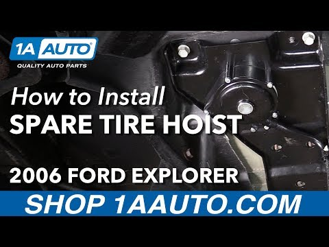 How to Replace Spare Tire Carrier Hoist Assembly 02-10 Ford Explorer